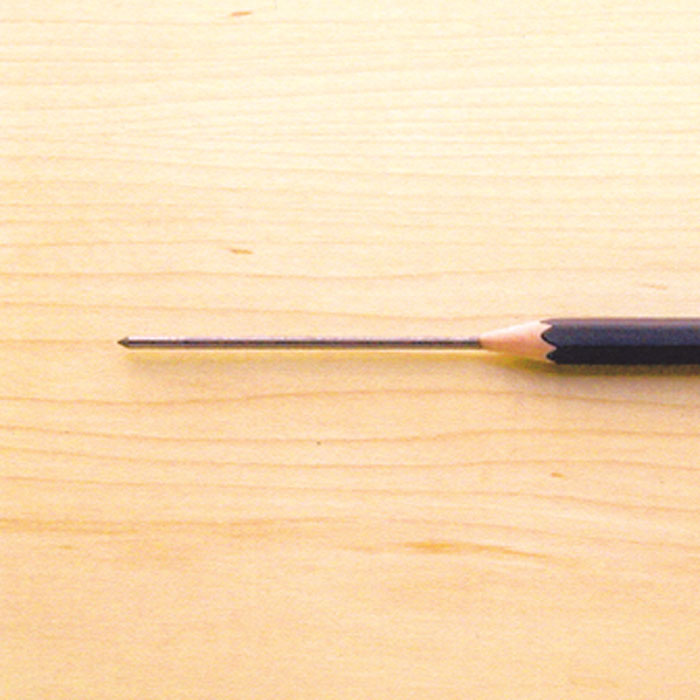 Pencil with extra lead.