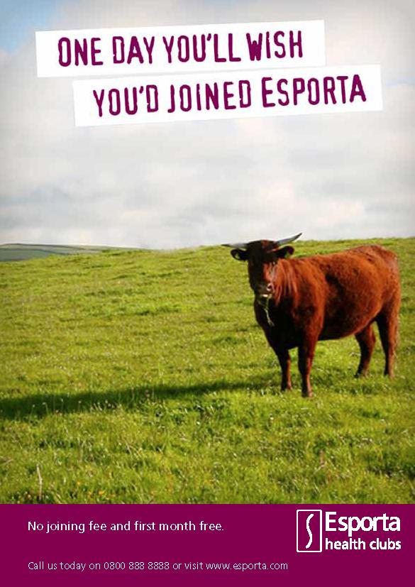 Esporta print advertisement with Mike Keane as Art Director.