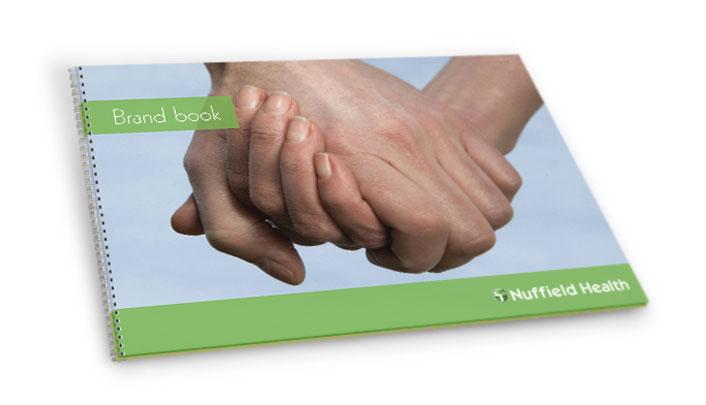 Graphic design for Nuffield Health brand book