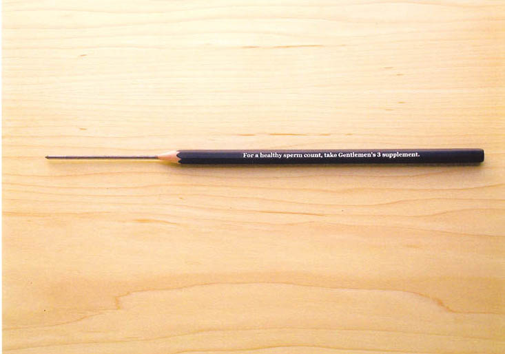 Extra lead in a real  pencil.