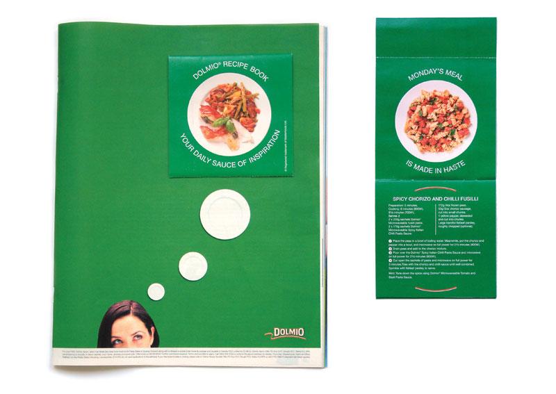 Magazine with recipe booklet.
